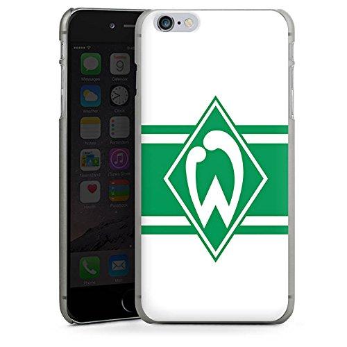 Apple iPhone X Silikon Hülle Case Schutzhülle Werder Bremen Wappen gestreift Fanartikel Hard Case anthrazit-klar