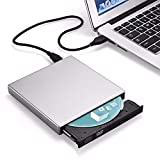 YWT Driver Lettore Dvd-RW CD-RW CD-Rom CD-Rom USB 2.0 Esterno, bruciatore Portatile Ultra Sottile in Alluminio per PC Mac Windows 7 8 10 XP Linxus