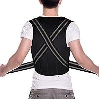 Verstellbare orthopädische Neopren Rückenstütze von COMPRESSX - Korrektur der Haltung, mit Polsterung für oberen... preisvergleich bei billige-tabletten.eu