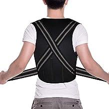 Cinturón y Soporte Ajustable Ortopédico para Espalda de Neopreno con Tirantes - Corrector de Postura y Cojín de apoyo para la Espalda Alta/Baja, Lumbar y Hombros- Tirantes Elásticos para comodidad.
