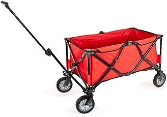 bremermann® Bollerwagen, Handwagen, Einkaufswagen, faltbar, rot