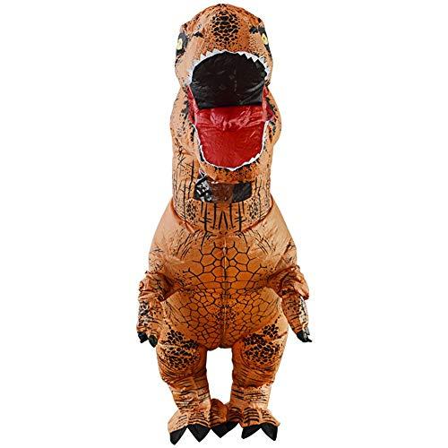 lem Aufblasbare Dinosaurier Maskottchen Kostüm Party Festival Park für Erwachsene Größe hoch 2,2 M (braun)