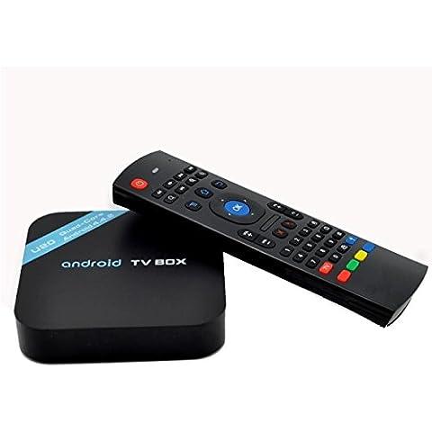M20 HD 1080P Android 4,4.2 Smart TV Box con Flying Squirrel, Procesador: Amlogic LMA S805 Quad-Core ARM Cortex-A5 1,5 GHz, 8 GB, memoria 1 GB de RAM, ROM, RJ45 HDMI compatible con Wi-Fi