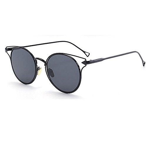 Aihifly Sonnenschutz Vintage Metall umrandeten Cat Eyes Sonnenbrille für Frauen Männer UV-Schutz für Outdoor Driving Vacation Beach (Farbe : C3)
