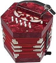 U/D Concertina Accordion 20 Botones 40-Reed Concertina Anglo Style con Bolsa de Transporte y Correa de Mano Aj