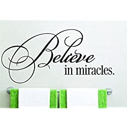 wandaufkleber 3d schlafzimmer house wall decor stickers Believe in Miracles inspiration for office home décor