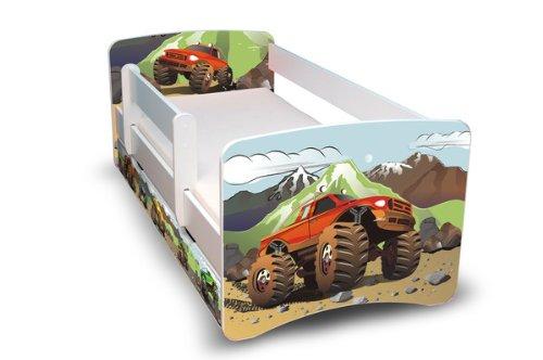 Best For Kids Kinderbett Jugendbett 90x180 mit Rausfallschutz und zwei Schubladen 44 Design