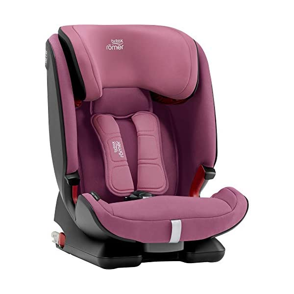 Britax Römer ADVANSAFIX IV M Group 1-2-3 (9-36KG) Car Seat- Wine Rose Britax Römer Our patented pivot link isofix system directs the force first downward into the vehicle seat, and then forward more gently - greatly reducing the risk of head and neck injury for your child We believe that a 5-point harness is the safest way to secure your child in a car seat because it keeps your child safe and tight in the seat's protective shell Soft neoprene performance chest pads fit comfortably on your child's chest. They help reduce your child's movement in the event of a collision, and add even greater comfort to the 5-point harness 7