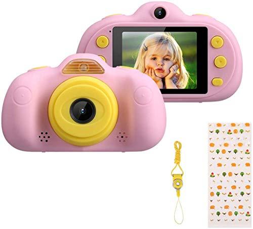 Excelvan Kinder Kamer Digitale Kinderkamera Fotoapparat Kinder Video HD 8,0 MP Funktion Foto/Video/MP3/MP4/Game Unterstützung TF Karte 32GB Hochauflösend mit LED-Licht Blau (B-Blue) (A-Pink)