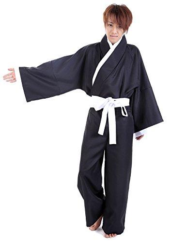 Kostüm Shinigami Ichigo (ACGCos Bleach Cosplay Kurosaki Ichigo Shinigami Black Male Kimono 3rd)