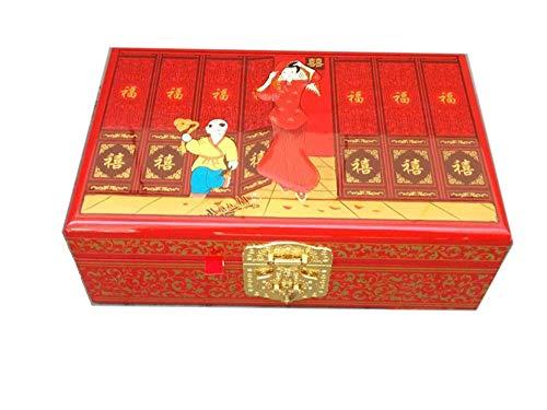 Wooden fish Chinesische Schmuckschatulle,Lack Ware Box lackiert Kunsthandwerk aus Holz Lacquerware Feld chinesischen Aufbewahrungsbox,Chinesische Hochzeit Aufbewahrungsbox -