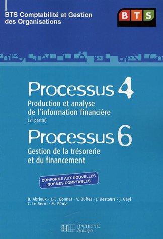 Processus 4 Production et analyse de l'information financière (2e partie) ; Processus 6 Gestion de la trésorerie et du financement BTS CGO