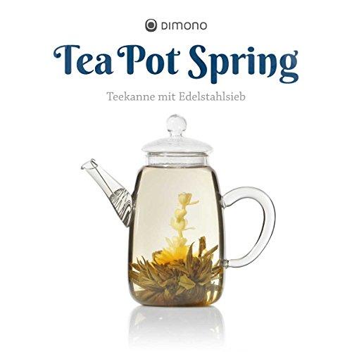 Teekanne aus Glas mit Teefilter klassische Tee-Filter Kanne 600ml von Dimono - 5