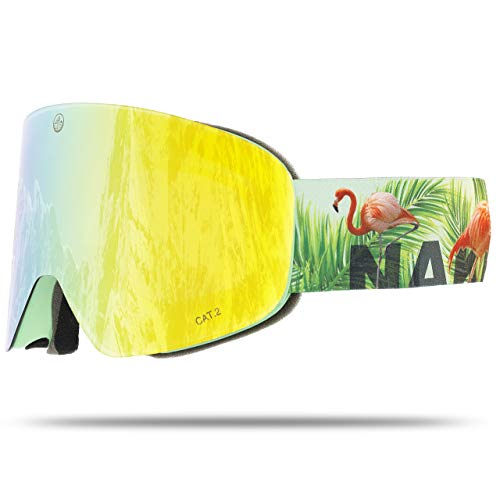 NAKED Optics Troop EVO Flamingo (Yellow Lens), ohne Schlechtwetterglas