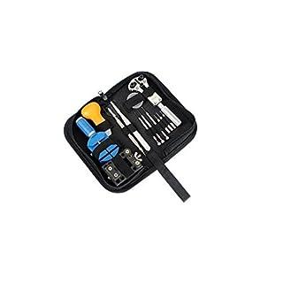 A-szcxtop(TM) Uhren-Reperaturset, 13-teilig, handlich, mit Stiftausdrücker, Gehäusehalter, Gehäuseöffner, Schraubendreher 13 pcs