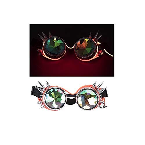 AFUT Rave Festival beleuchtet Steampunk Brille Kaleidoskop Goggles -
