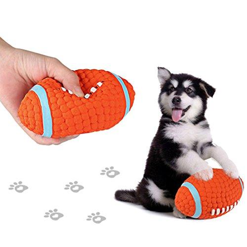 VICTORIE Hundespielzeug Ball Quietschende Wasser Flotation Naturkautschuk Kauen Spielzeug für Hunde Welpen Haustiere Rugby