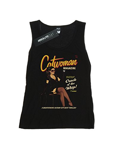 DC Comic Femme Catwoman Bombshell Cover Tank Top Noir