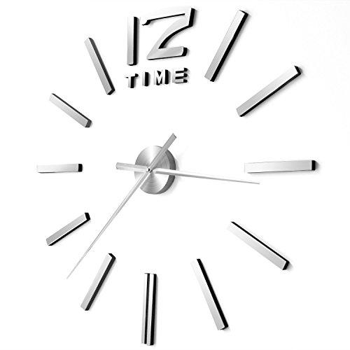 prochive 3D DIY Wanduhr Modern Aufkleber für Home Office Dekoration - Digitale Radio Clock Atomic