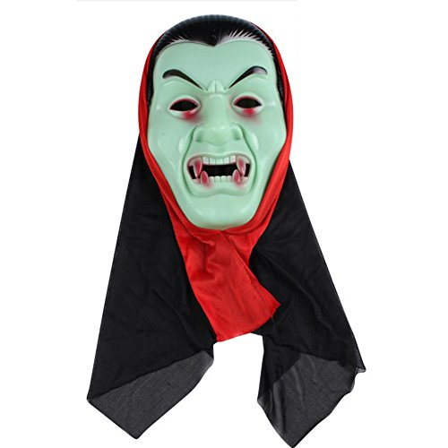 Halloween Horror Teufel Maske Scary Kunststoff Maske Masquerade Kleid Party Full Face Maske Erwachsene Cosplay Prop für Bar Party, plastik, Green Face Devil, ()
