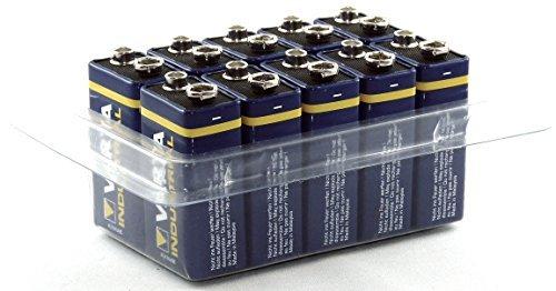 Varta Industrial MN1604 6LR61, batteria alcalina 4022 da 9 V, confezione da 10 pezzi
