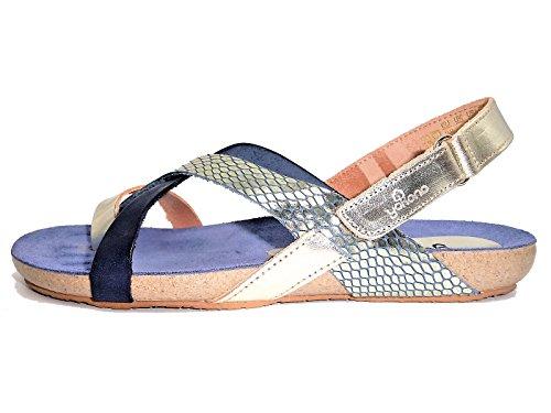 YOKONO IBIZA-718 Sandalia Dedo Mujer Azul 36