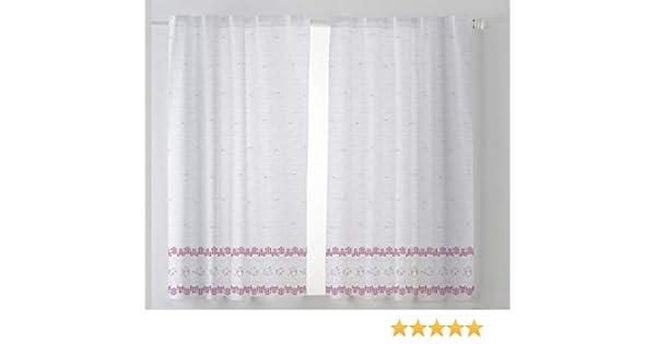 Cardenal Textil Tamara Lot de 2 Rideaux de Cuisine Violet 100 x 140 cm