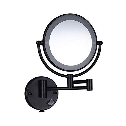 MFWallMirror Badezimmerspiegel Schminkspiegel LED mit Licht Kosmetikspiegel Wandhalterung Falten Teleskopisch Hotel Bad Doppelseitig Schminkspiegel -