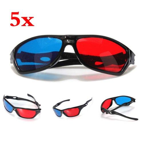 Tv-brille (SODIAL (R) 5x Rot und Blau Anaglyphen Dimensional 3D Vision Brille fuer TV Movie DVD-Spiel)
