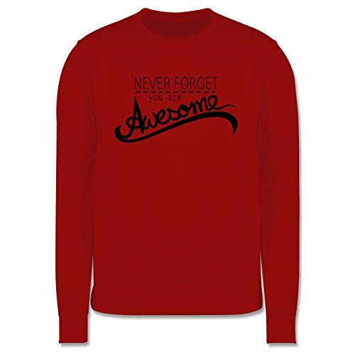Statement Shirts - Never forget you are awesome - Herren Premium Pullover Rot