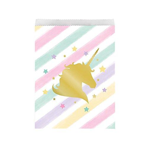Goldenes Einhorn 10 Papiertüten