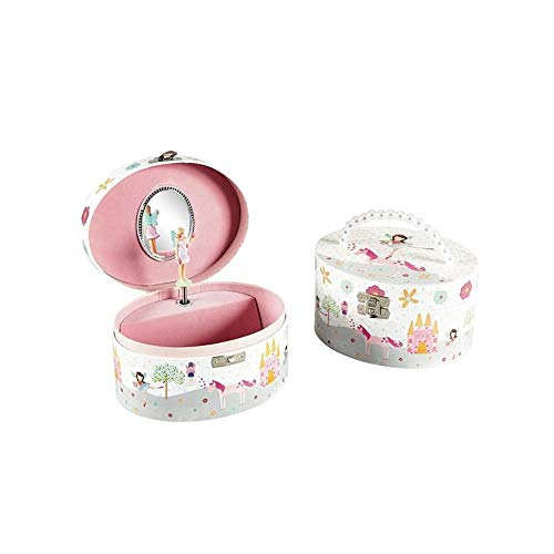 Oval Fairy and Unicorn Musical Jewellery Box by Floss & Rock -