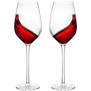 Doctor Hetzner Short Stem Lead Free White Red Wine Crystal Glass 2