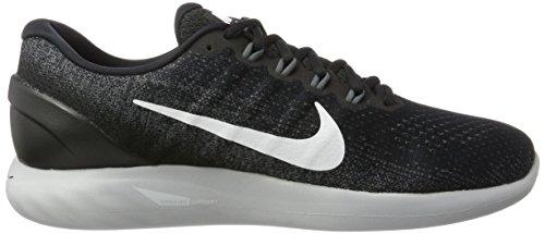 Nike Lunarglide 9, Scarpe da Running Uomo Nero (Black/White/Dark Grey/Wolf Gre 001)