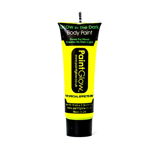 Paintglow Neon Yellow Glow in the Dark Face & Body Paint Rave Festival Party 10ml