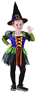 Carnaval - Disfraz de bruja para niña, talla 4-6 años