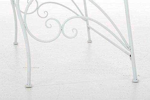 CLP Gartenbank ORKUN im Landhausstil, Eisen lackiert, 107 x 50 cm, 2er Sitzbank Weiß - 8