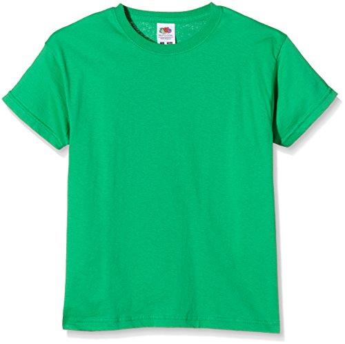 Fruit of the Loom SS132B, Camiseta para Niños, Verde (Kelly Green), 7-8 años (Talla del fabricante 128)