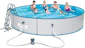 Bestway Hydrium Splasher StahlwandPool Set, weiß, 460 x 90 cm
