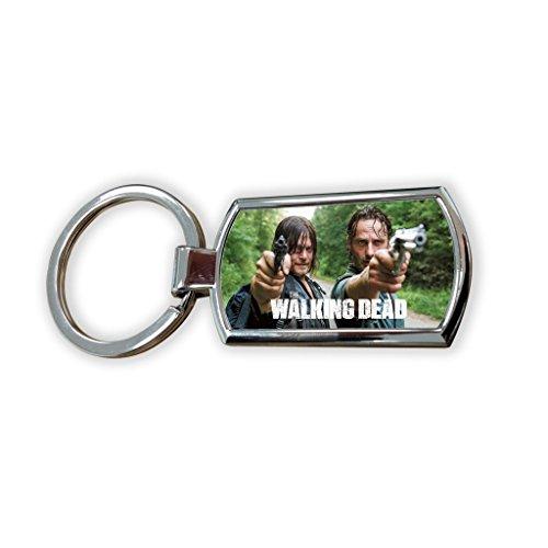 Walking Dead The Zubehör (The Walking Dead Zombie Tv USA zeigen Schlüsselanhänger aus Metall Schlüsselanhänger Bag Tag)