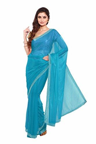 Anuraag Silks & Sarees Synthetic Saree (94347G_Blue)