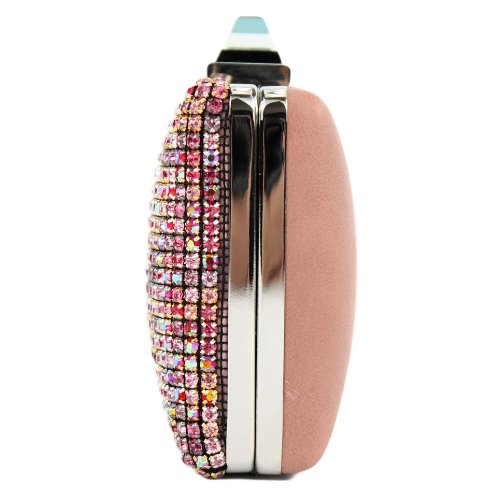 Borsa da donna borsetta borsa da sera borsa a tracolla perline elegante AT02 LK16812 Rosa