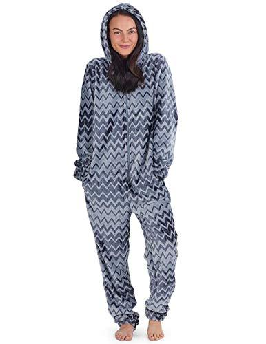 CityComfort Einhorn Mädchen Damen Onesies oder Pyjamas mit Flauschigen Einhorn Hausschuhe Damen PJs Pyjama Bottoms Set - perfekte Einhorn Geschenke Dieses Jahr (L, Holzkohle zweifarbig) - Holzkohle-schleife