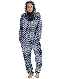 6dc1949ac9 CityComfort Womens Onesie Fleece Twosie Super Soft Women Pyjamas Jumpsuit  for Woman Two Colours Geometric Lines