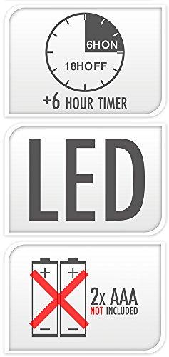 LED Velas 066con temporizador, 8x 10cm