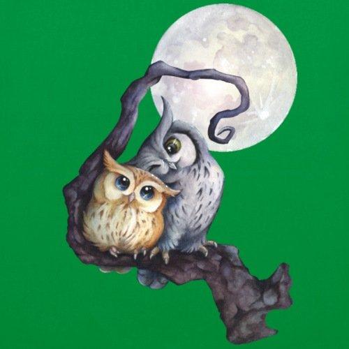 Spreadshirt Ama I Gufi Nella Borsa In Tessuto Chiaro Di Luna Verde Kelly