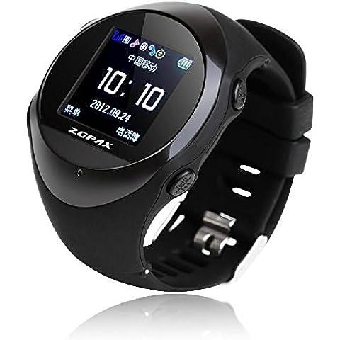 Smartwatch Salud PG88 monitoreo posicionamiento de sueño para los ancianos ver análisis de reloj smart watch de posicionamiento preciso , black