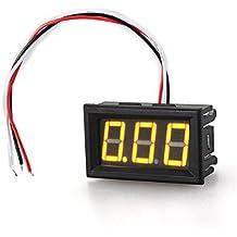Mini Voltímetro Medidor de Voltaje Presión Digital DC 0-30V Amarillo