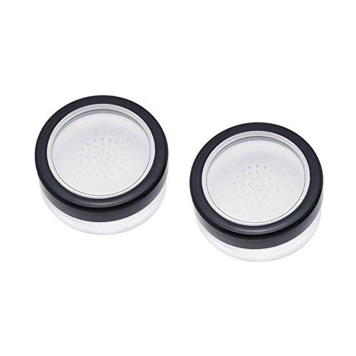 SelfTek 2 Stücke 10 ml Leere Lose Pulver Fall Gesichtspuder Blusher Make-Up Kosmetikdose Container mit Sieb