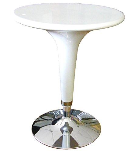 Serena Group Tisch Bar à ¸ 60cm aus ABS und Stahl H72/92weiß